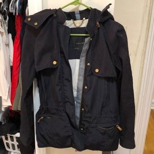 Zara navy utility jacket size large